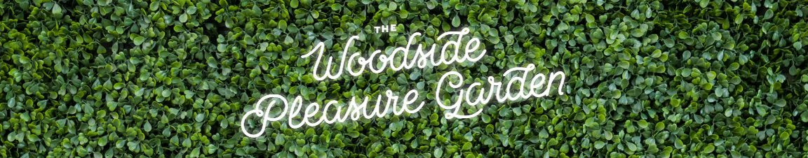 The woodside pleasure garden banner