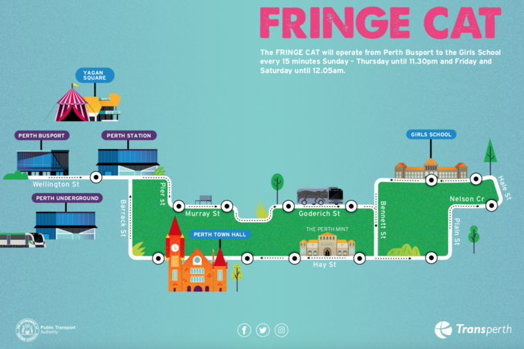 Free FRINGE CAT bus to Girls School